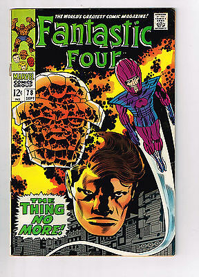 Fantastic Four #78 Vf/vf+ 1968 Stan Lee Jack Kirby Silver Age  Great Condition!