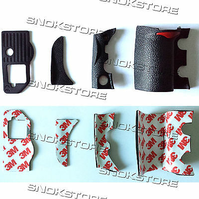 4 pieces RUBBER COVER UNITS COMPLETE RUBBER GRIP REPAIR PART FOR NIKON D700 NEW