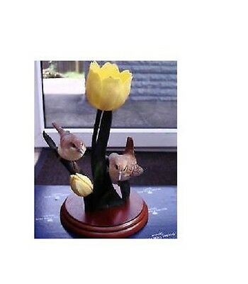 Border Fine Arts Garden Guests, Wrens & Tulips A1022 New, Boxed