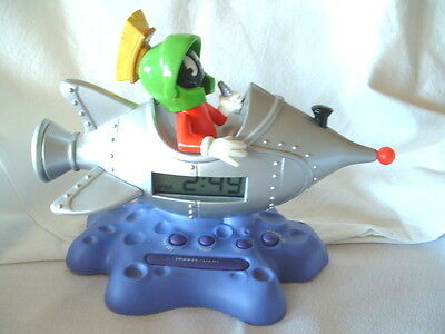Marvin the Martian in rocket ship clock and alarm