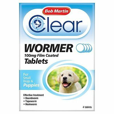 Bob Martin Clear Wormer Tablets For Small Dogs and Puppies