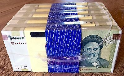 Bundle 100X Iran 100000 Rials Unc 10 Million Riyals Uncirculated Currency