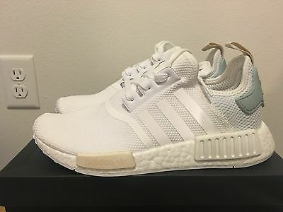 195278b4a2e ADIDAS WOMENS NMD Runner Nomad R1 W BY3033 White Tactile Green ...