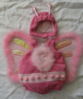 Baby Halloween Costumes 6 12 months Girl PINK BUG Feathers Children Place Padded