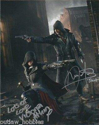 Assassin's Creed Syndicate Amos Victoria Atkin Autographed Signed 8x10 Photo COA