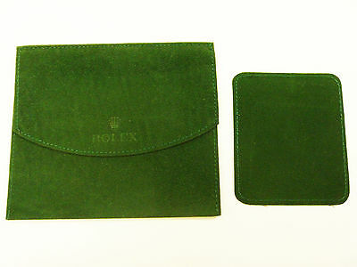 Vintage Rolex Suede Watch Case Travel Pouch - FREE SHIPPING