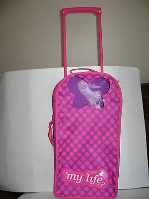 My Life DOLL CARRIER ROLLING WHEELS fits American Girl TRAVEL CASE BUTTERFLY