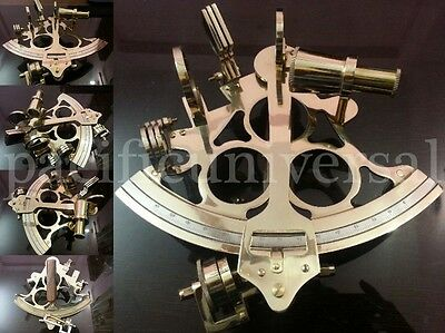 """Maritime Collectible Nautical Solid Brass Sextant10"""" Vintage Marine Working Item"""