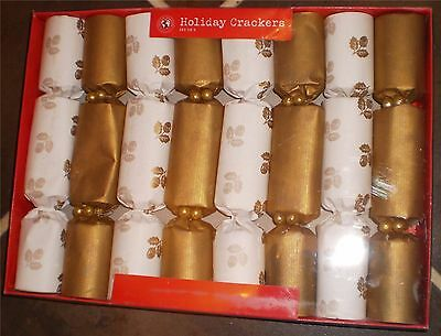 Gold Kids Children Christmas New Year Party Crackers Box of 8