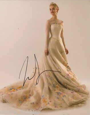 Lily James Cinderella Autographed Signed 8x10 Photo COA