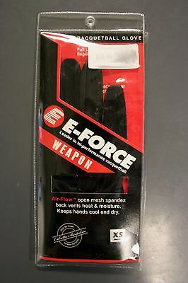 E-Force Weapon Racquetball Gloves   Red   Right Hand   NEW   Free USA Ship