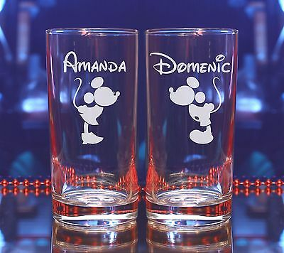 Mickey and Minnie Disney/Valentines Day/Tulip/Champagne/Pint/Wine glass gift#261
