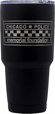 Chicago Police Memorial Foundation Tumbler Stainless Steel Black Coated 30oz.
