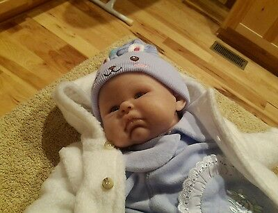 Nel de Man OOAK Artist Doll Polymer Clay Baby 19 inches