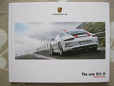 2016 Porsche 911R 911 R Hardback Customer BIG Brochure Prospekt Catalogue ENGLIS