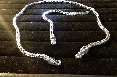 """Dragon Silver 925 18"""" Necklace/Bracelet size 7 TW=65.9g PASSED MAGNET TEST NEW!"""