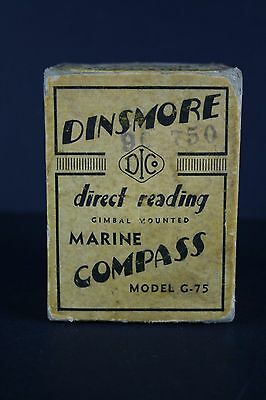 Dinsmore Compass G-75 Nautical Marine Vintage old Compass Boxed