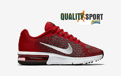 Nike Air Max Sequent 2 Rosso Scarpe Unisex Sportive Sneakers 869993 600 2017
