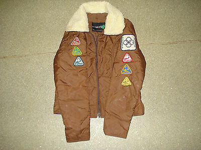 Vintage boy scouts Bomber Jacket with patches Kids Boys Youth Size Small