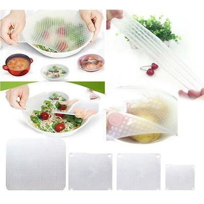 Silicone Wraps Reusable Seal Cover Stretch Cling Film Food Fresh Kitchen Tools