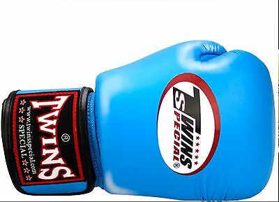 Twins Bgvla-2 Breathable Muay Thai/Boxing Gloves Light Blue 12oz.