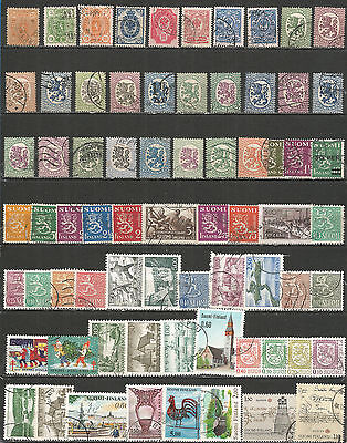 Finland from 1885 year , nice small collection,  used stamps