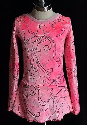 Pink Competition Ice Figure Skating Dress / Girls X - SMALL 5 / 6 / 6X