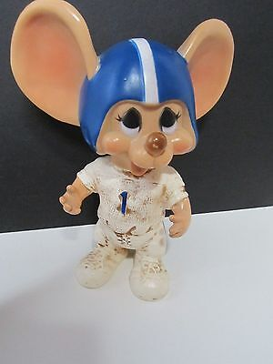 Vintage Huron Products Big Eared Mouse Bank Football Player Rare!