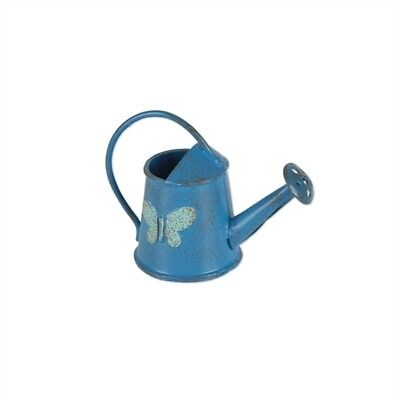 Miniature Dollhouse FAIRY GARDEN - Blue Butterfly Watering Can - Accessories