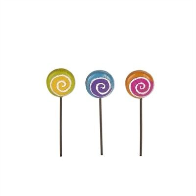 Fairy Garden Mini - Magical Lollipop Picks - Set of 3