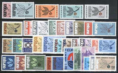 Cept Europa 1965 ** annata completa MNH year beautiful and complete 74,00