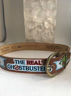 Vintage Childs Ghostbusters Leather Belt By Lee Size 20-22 NOS Brown 1986