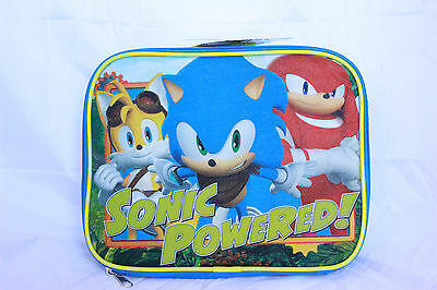 Sonic The Hedgehog Boys Bookbag Backpack Lunch Box Kids School Bag SEGA Blue