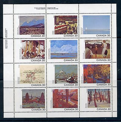 Weeda Canada 966a VARIETY. VF mint NH pane of 12 - Disappearing door handle!
