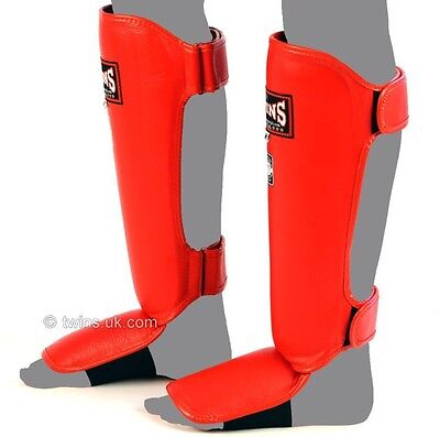 Twins Sgl-3 Shin Guards Size M In Red.