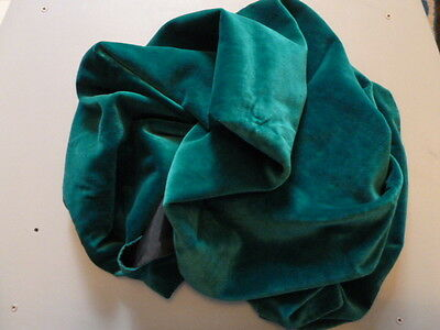 Vintage 1950's Green Velvet Lined Stole/Wrap/Shawl