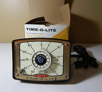 Time-O-Lite / Industrial Timer Corporation GR-72 Photographic TimerWith Box.