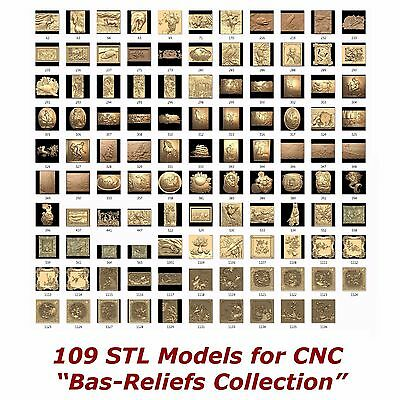 "109 3d STL Models - "" Bas-Relief Collection "" for CNC artcam 3d printer aspire"