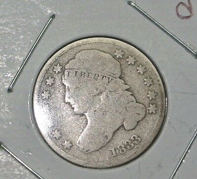 1833 Capped Bust Silver Half Dime VG