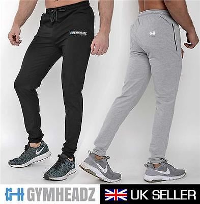 Mens Gym Joggers Mens Gym Slim fit Skinny Fitted Joggers Pants Bottoms Training
