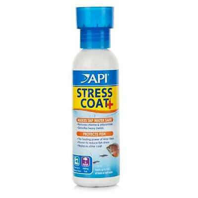 API Stress Coat 118ml Tap Safe Water Conditioner Dechlorinator Fish Tank