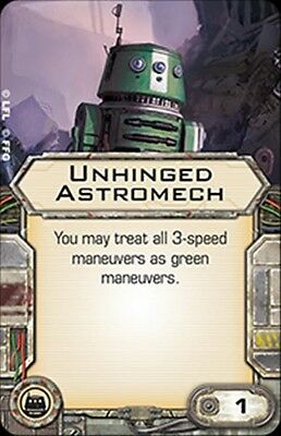 Star Wars X-wing Miniatures Unhinged Astromech upgrade card Salvaged Astromechs