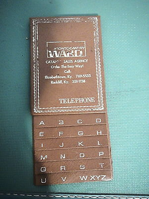 Vintage Elizabethtown Ky Radcliff Kentucky Montgomery Ward phone guide 50s RETRO