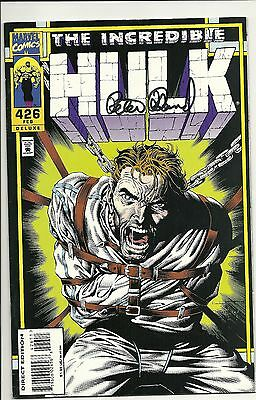 The Incredible HULK #426 (Marvel Comics) -- Signed by writer Peter David -*VF+
