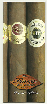 The Finest Cigar Collector cards (D.B. Cardiff 1997) dealer tri-fold PROMO card.