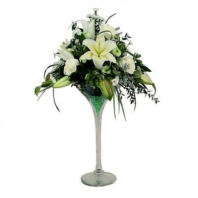 Large Martini Glass Wedding Table Centrepiece Event Decoration 50cm Tall