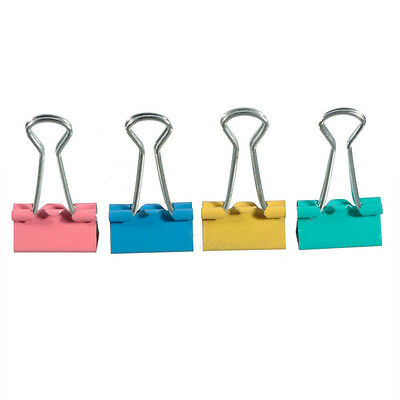 Metal 19mm Colorful Binder Clips Document Clips Office Stationery Paper Holder