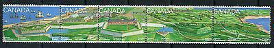 Weeda Canada 1551ai VF mint NH Unfolded strip of 5, Annual Collection. CV $7+