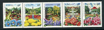 Weeda Canada 1315ai VF mint NH Unfolded strip of 5, 1991 Annual Collection CV$7+