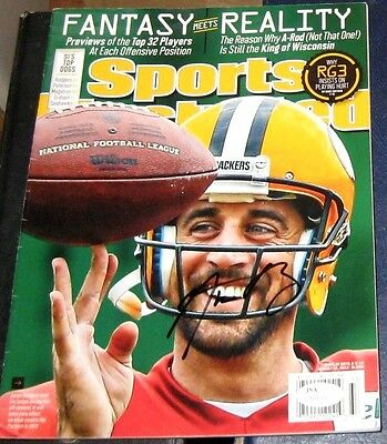 Aaron Rodgers Green Bay Packers Signed Autographed Sports Illustrated Si Jsa 3